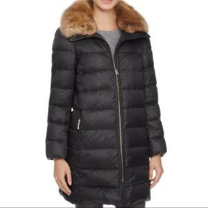 Kate Spade New York Faux Fur trim collar down coat